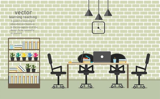 Büro im café lernen und lehren