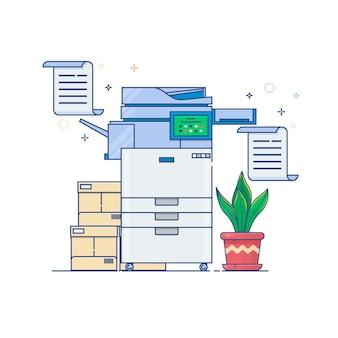 Büro-multifunktions-druckerscanner