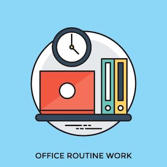 Büro-routing-arbeit