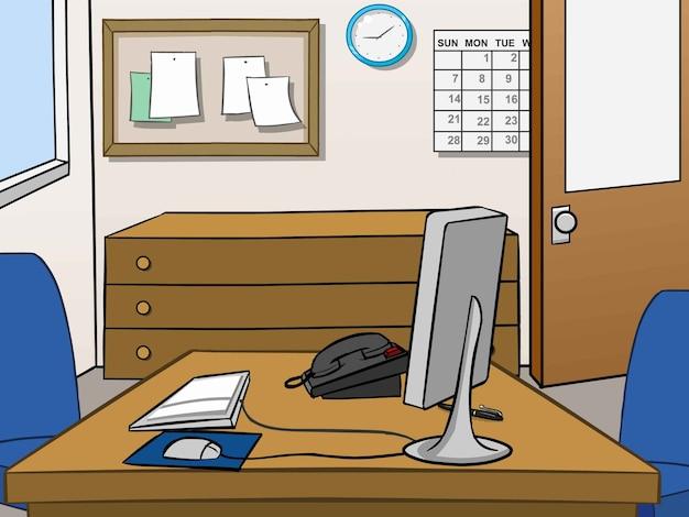 Büro saubere seite