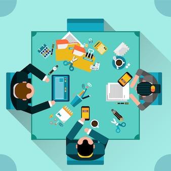 Büro-teamwork-konzept