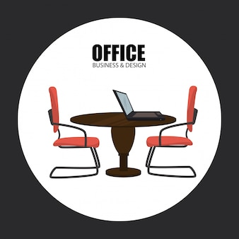 Büro über grau