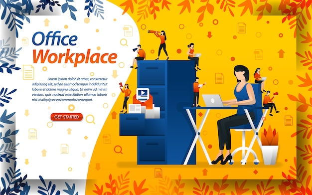 Büro und arbeitsplatz