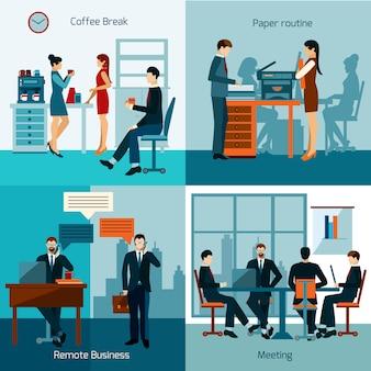 Büroangestellte festgelegt