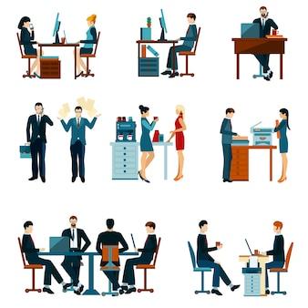 Büroangestellte icons