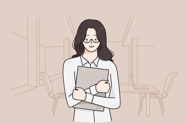 Büroangestellte illustration