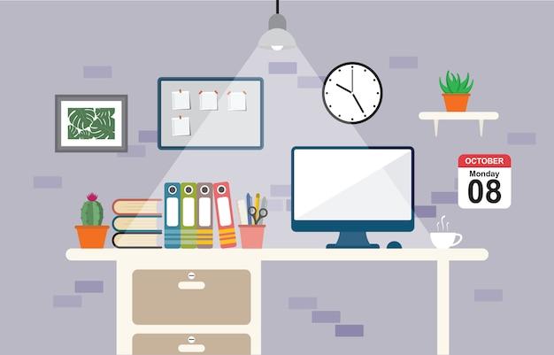 Büroarbeitsbereich