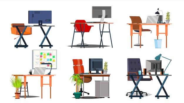 Büroarbeitsplatz-set