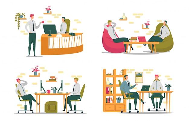 Büroarbeitstätigkeit und -beziehungen der kollegen