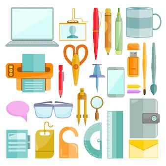 Bürobedarf und schreibwaren-set