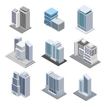 Bürogebäude isometrisch