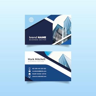 Bürogebäudeentwurf für visitenkarte