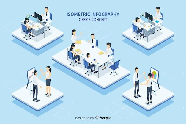 Bürokonzept infografik