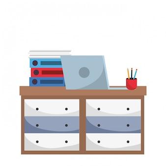 Büromöbel-karikatur