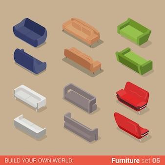Büromöbel set sofa sitz couch diwan lounge element wohnung kreative sammlung von innenobjekten.