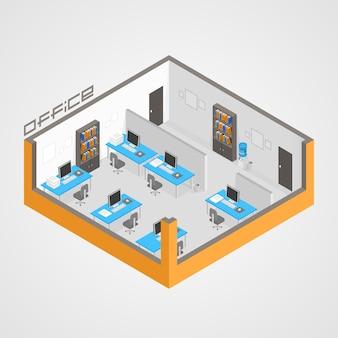 Büroraum es entwicklung kunst. vektor-illustration