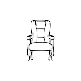 Bürositz handgezeichnete umriss-doodle-symbol. moderne bequeme stuhlvektorskizzenillustration für druck, netz, mobile und infografiken lokalisiert auf weißem hintergrund.