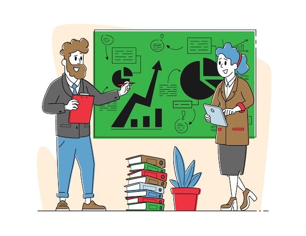 Büroszene mit business-charakteren