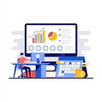 Bürozentrum-konzept für kreative arbeitsumgebungen mit charakter.