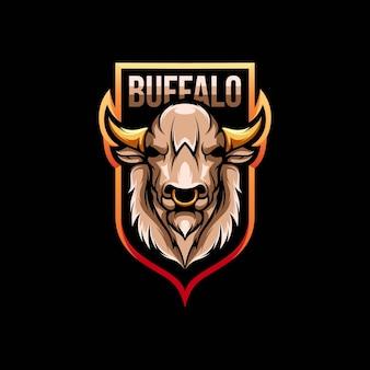 Buffalo logo in der hand gezeichnet