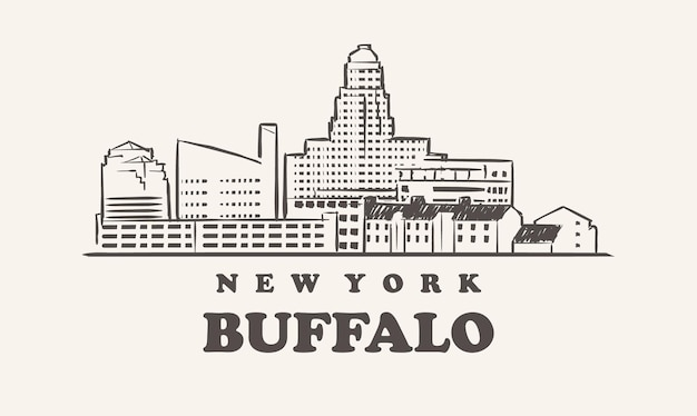 Buffalo skyline, new york