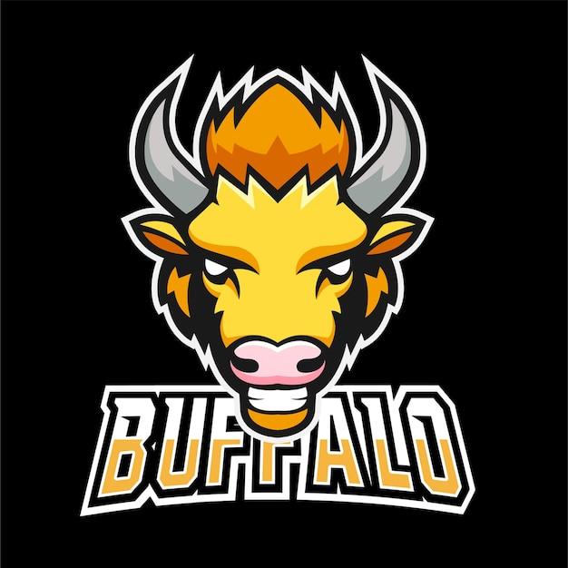 Buffalo sport- und esport-gaming-maskottchen-logo