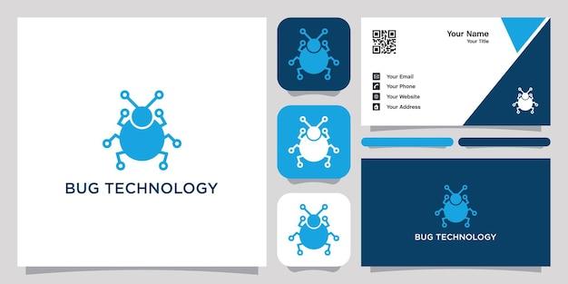 Bug technology logo symbol symbol vorlage logo und visitenkarte