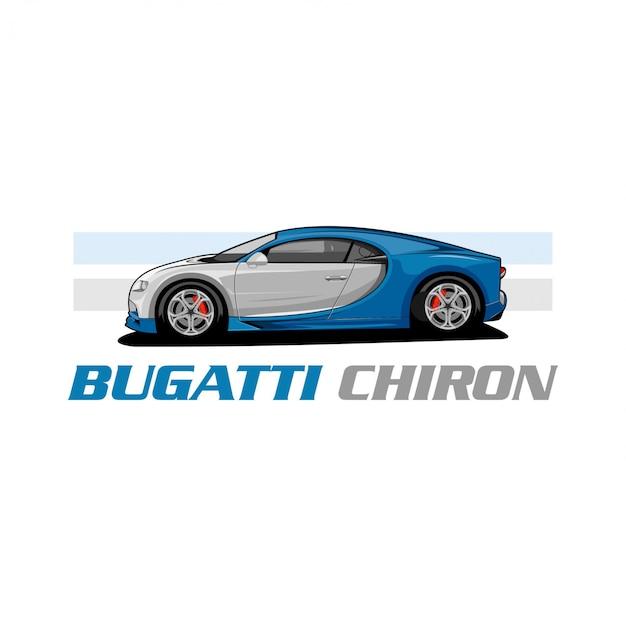 Bugati chiron-vektor