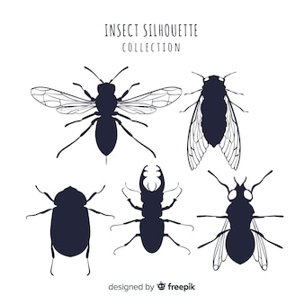 Bugs silhouette sammlung