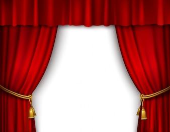Bühnenvorhang isoliert