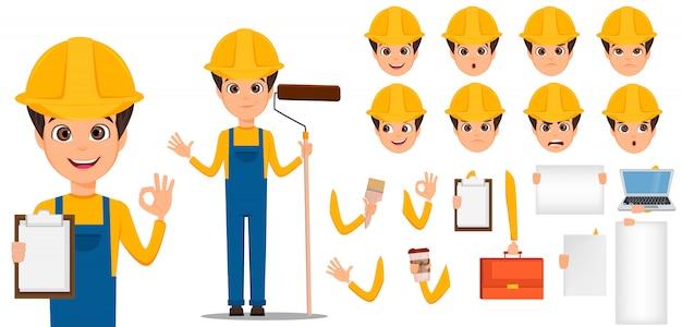Builder cartoon charaktererstellung festgelegt