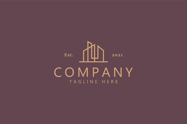 Building landmark business company logo-konzept