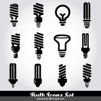 Bulb monochrome icons