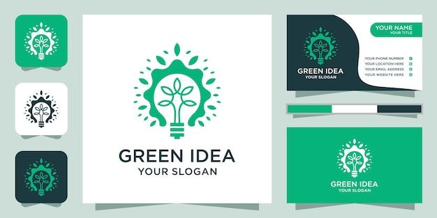 Bulb tree logo design