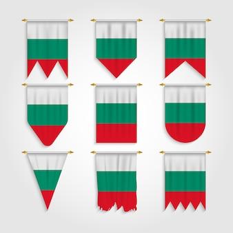 Bulgarien flagge in verschiedenen formen