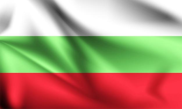 Bulgarien flagge weht im wind. teil einer serie. bulgarien weht flagge.