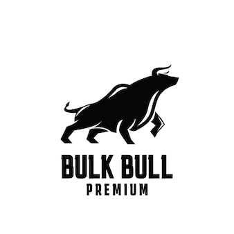 Bulk bull premium logo design