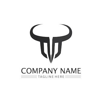 Bull büffel kopf kuh tier maskottchen logo design vektor für sport horn büffel tier säugetiere kopf logo wild matador