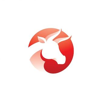 Bull buffalo horn icon-logo