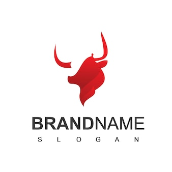 Bull logo farm cattle und esport team symbol