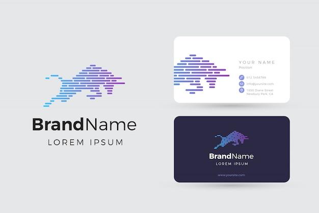 Bull logo und visitenkarten