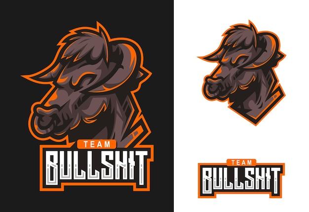 Bull maskottchen esport logo design