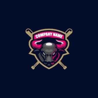 Bull maskottchen logo