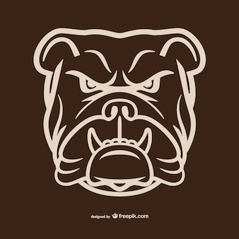 Bulldog head umriss