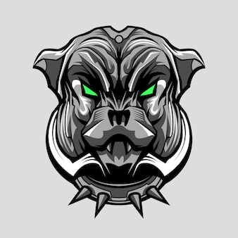 Bulldog pitbull hund mecha illustration design