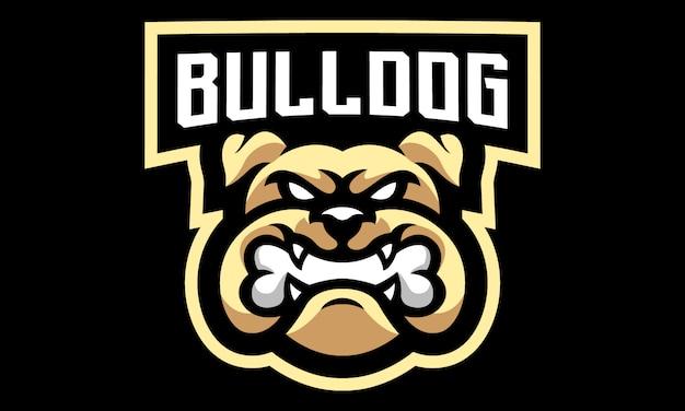 Bulldogge esports maskottchen logo design-01