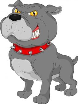 Bulldogge-karikatur