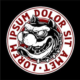 Bulldogge kopf abzeichen design