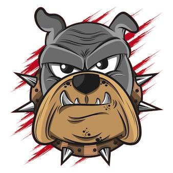 Bulldogge kopf illustration