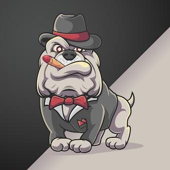 Bulldogge rauchen